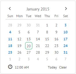 Calendar Calendar UI widget documentation: overview and usage.