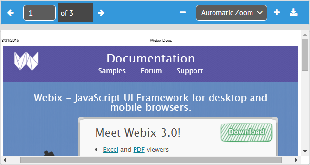 PDF Viewer - The PDF Viewer widget documentation: overview and usage