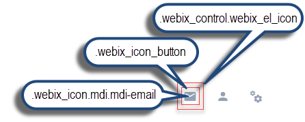 Webix Icon basic use