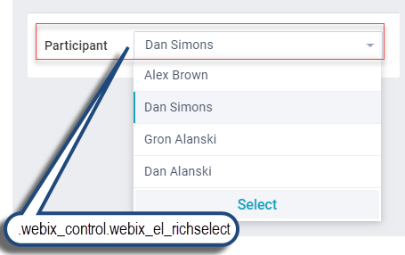 Webix Suggest List basic use
