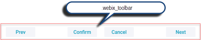 Webix Toolbar basic use